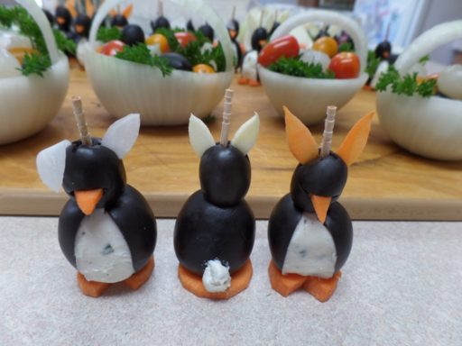 Easter Penguin with Tail