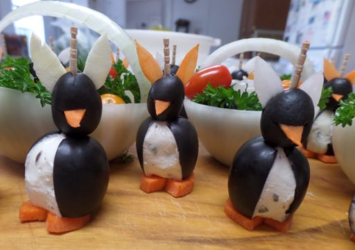 Easter Cream Cheese Penguins